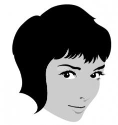 girl fashion face vector image