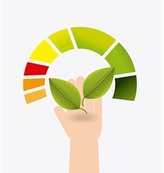Green energy design vector