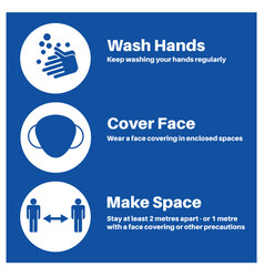 hands space face covid-19 information vector image