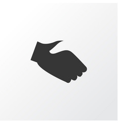 handshake icon symbol premium quality isolated vector image
