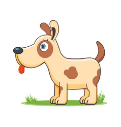 happy cartoon dog vector image