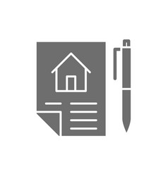 Home purchase contract sale of real estate lease vector