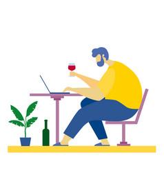 internet online dating love dinner virtual vector image