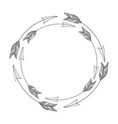 Isolated arrow of boho style design vector image
