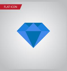 isolated gemstone flat icon carat element vector image