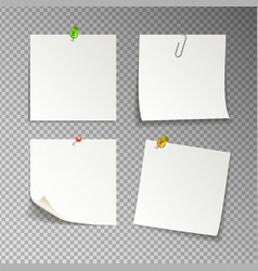 isolated white sticky notes vector image