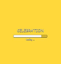 Loading celebration in comic style vector
