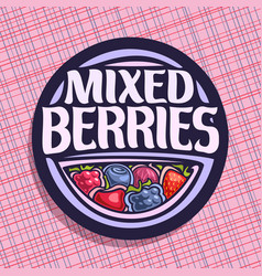 Logo for berries vector