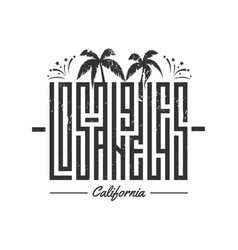 los angeles lettering for card tee print vector image