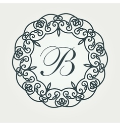 Luxury Logos template flourishes calligraphic vector image