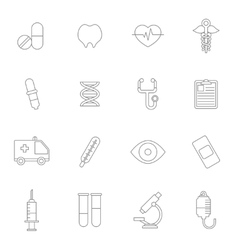 Medical Icons Line vector image