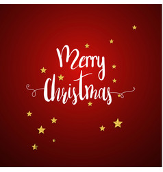 merry christmas and new year xmas background vector image