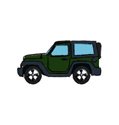 Modern jeep tourism design travel by car vector