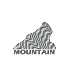 monochrome emblem of nordic mountain vector image vector image
