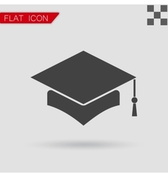 Mortar Board or Graduation Cap vector image