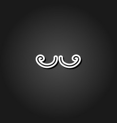 mustache icon flat vector image