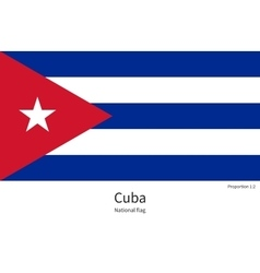 National flag of Cuba with correct proportions vector image