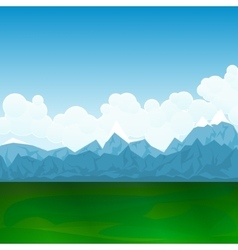 Natural LandscapeGreen Field and Mountains vector image