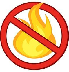 No fire symbol vector