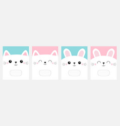 notebook cover composition book template pet baby vector image