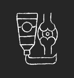 Ointment for arthritis chalk white icon on dark vector