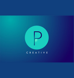 p letter logo icon design with paper cut creative vector image