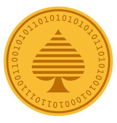 peaks suit digital coin vector image