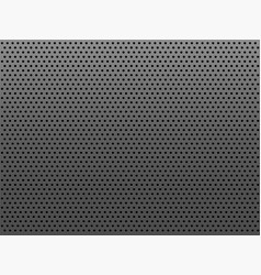 perforated gray metal plate with round holes vector image
