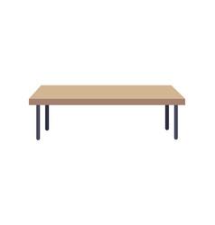 Rectangular shaped table vector