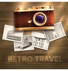 Retro Camera Background vector image