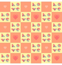 Romantic pattern for Valentines Day and wedding vector image