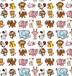 Seamless animals vector image