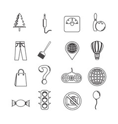set of web icons for website and communication vector image