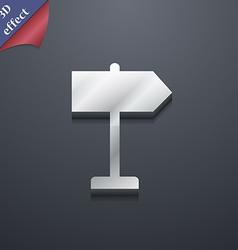 Signpost icon symbol 3D style Trendy modern design vector