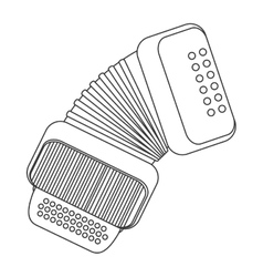 single accordion icon vector image