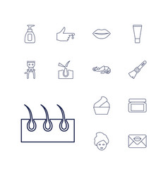Skin icons vector