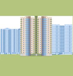 Skyscrapers city district vector
