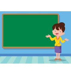 Teacher and backboard vector