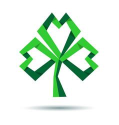 Trefoil clover icon for st patricks day vector