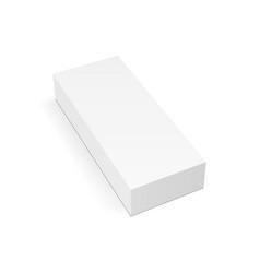 White rectangular package box mock up vector