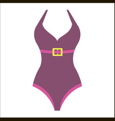 woman fashion summer swimsuit vector image