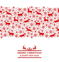 Xmas deer red vector