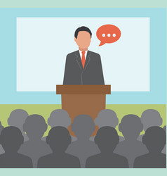 conference concept business vector image