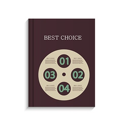 infographic book design on white background Eps10 vector image