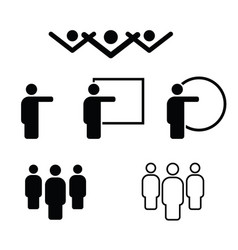 people icon in black and white color vector image