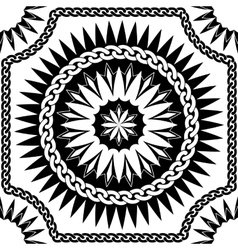 black pattern of chains vector image vector image