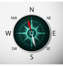 Compass with windrose vector