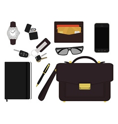 Every day carry businessman items No outlines vector image vector image