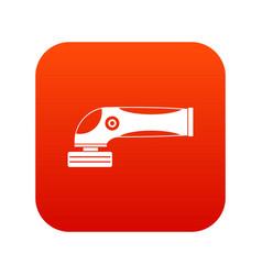 grinder machine icon digital red vector image vector image