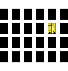 many windows vector image vector image